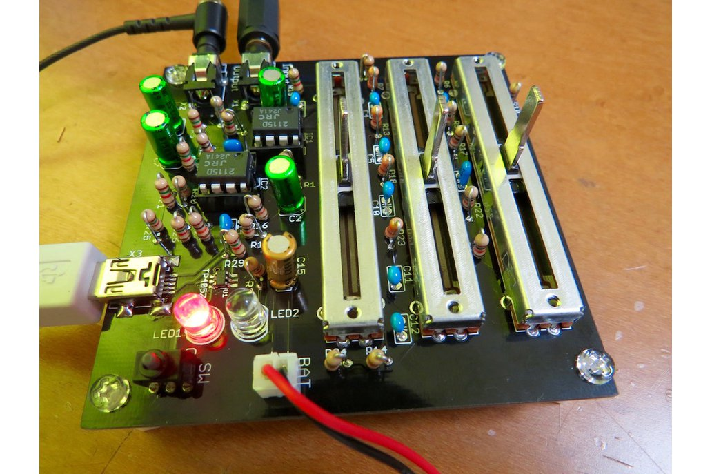 Simple stereo 3-band audio equaliser kit 1