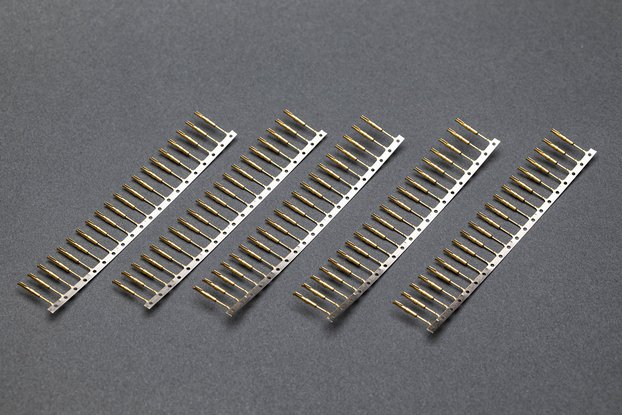 Gold Plated Nixie/VFD Tube Socket Pins, 100pcs