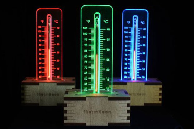 thermNeon - the neon nixie room thermometer