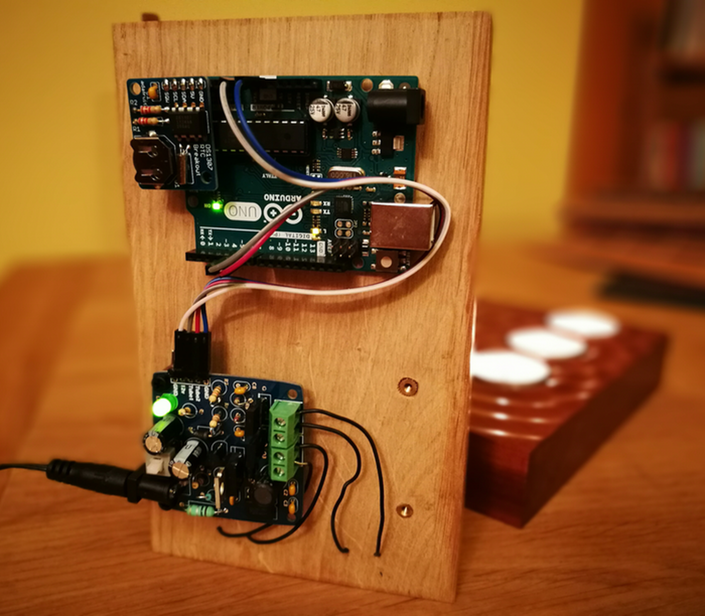 Nixie clock in bargraph driver kit from rcs on tindie