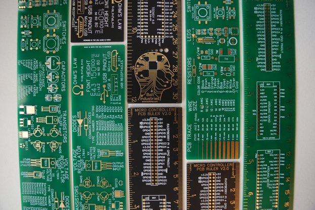 "12"" Raspberry PI, Arduino, Electronics PCB ruler"