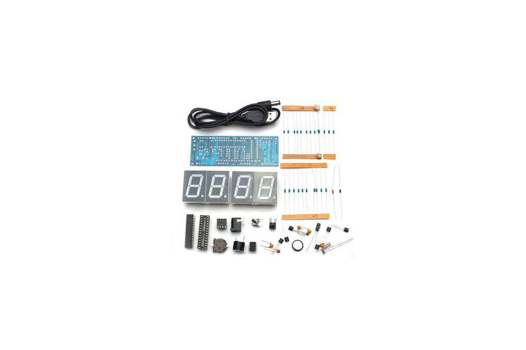 DIY 4 Digit LED Clock and thermometer 5
