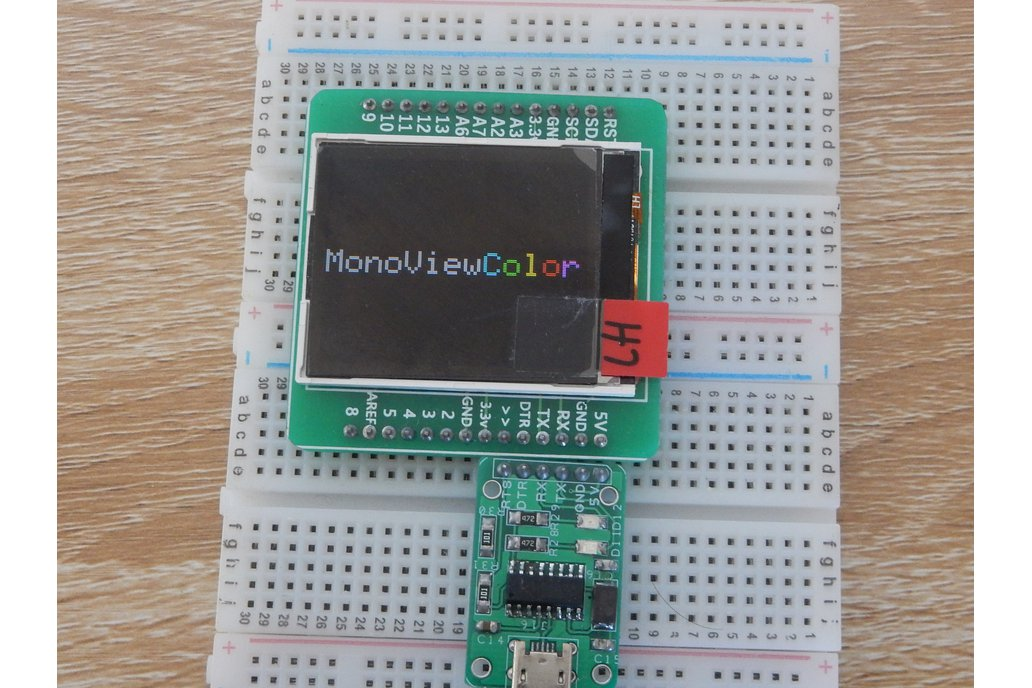 monoViewColor- An arduino with LCD display 1