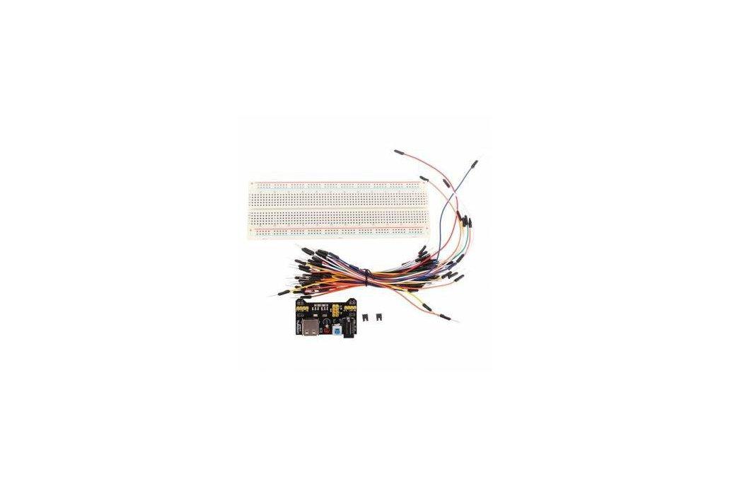 Breadboard + Power Supply + Jumper Wires 1