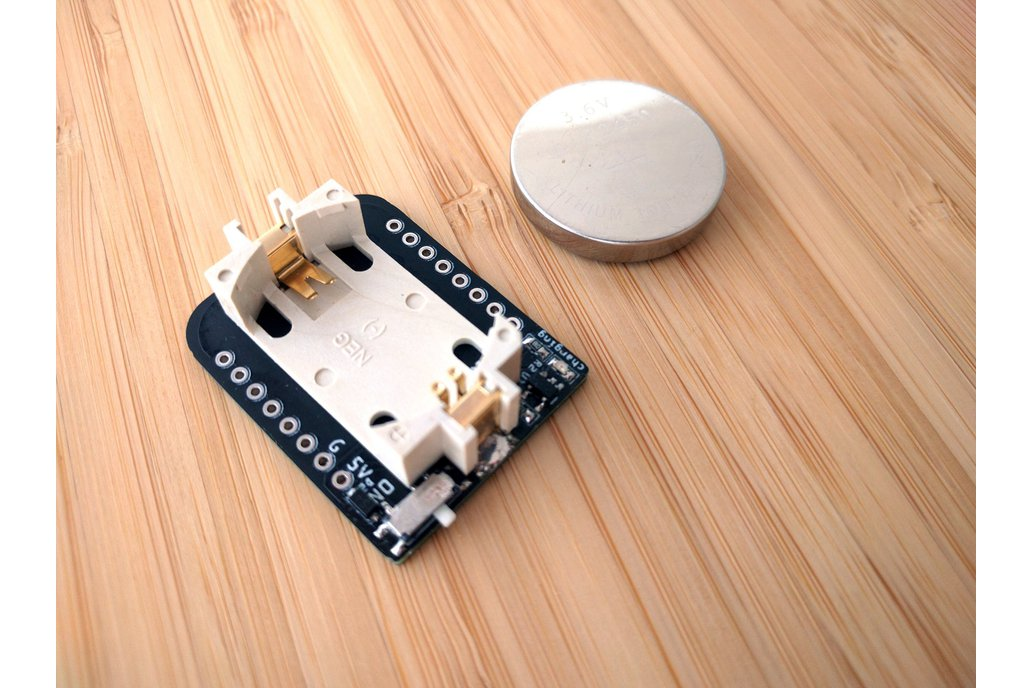 Rechargeable Coin Battery Shield for D1 Mini 1