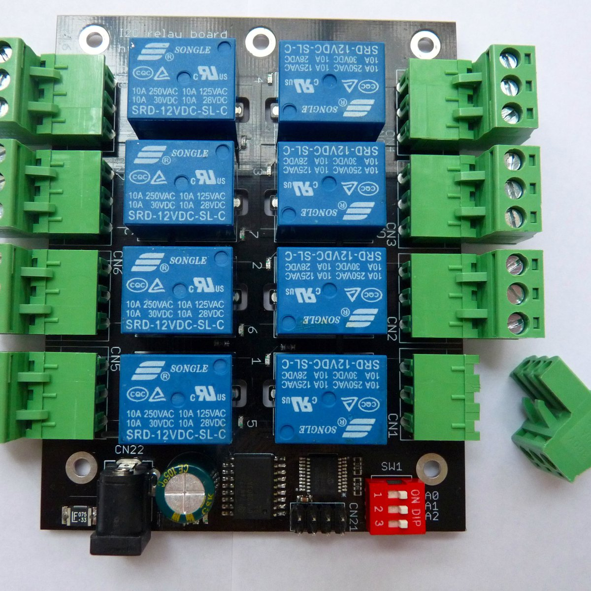 8 Channel Relay Board For Raspberry Pi And Arduino From Peter Jakab Solid State Form C On Tindie