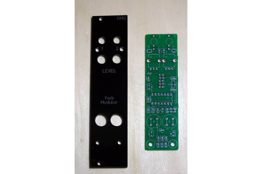 PCB/panel for Eurorack dual manual gate module 1