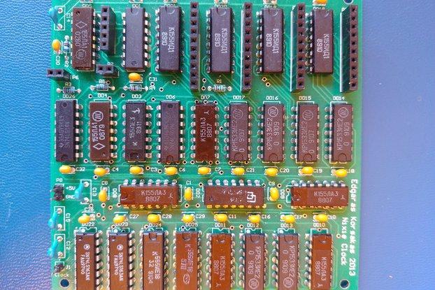 Nixie clock TTL board