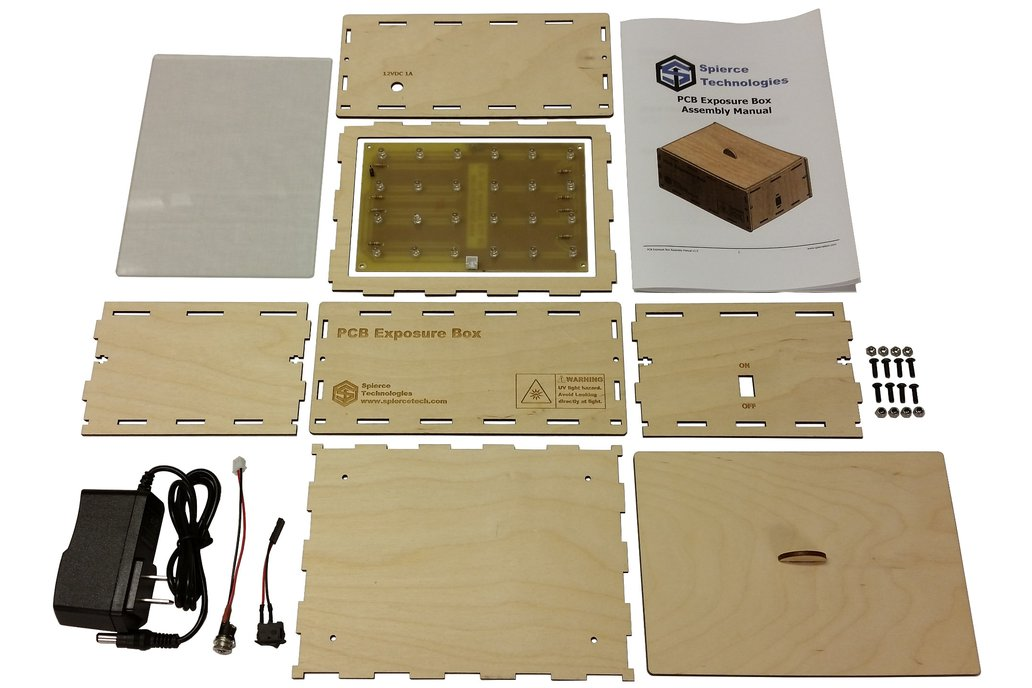 """PCB UV Exposure Box, 6"""" x 4"""" 6"""
