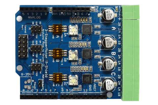 Stepper Motor Driver Arduino Shield V1.0 3xA4988