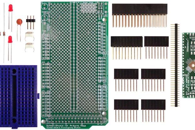 SchmartBoard|ez 0.5mm Pitch, 48 Pin QFP/QFN Arduino Mega Shield Kit