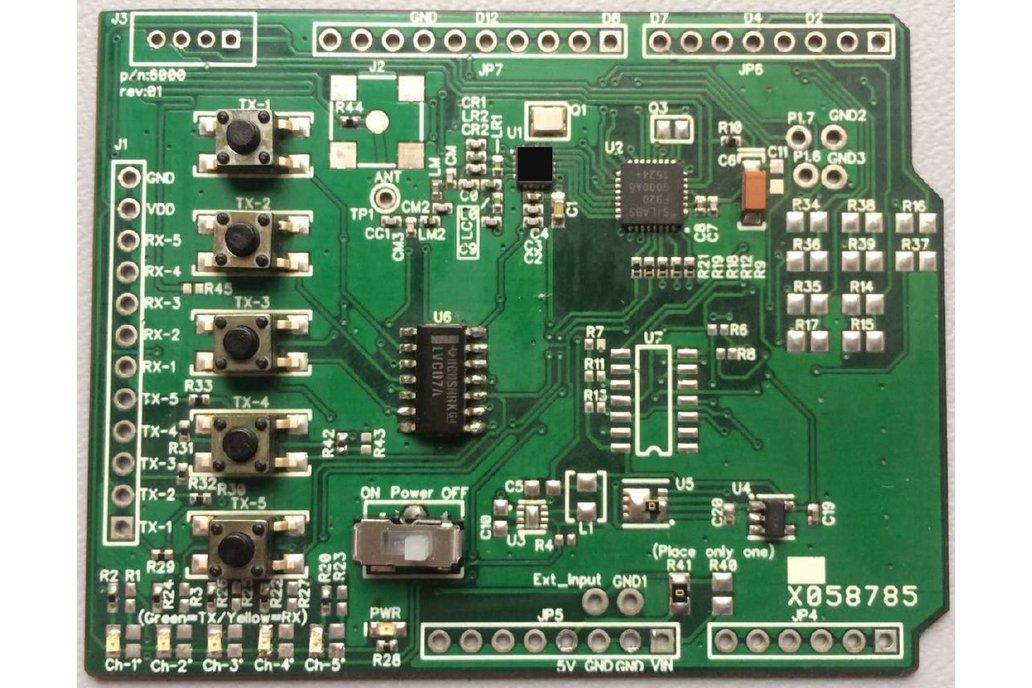 Arduino Uno Shield - Remote Control (Transmitter) 1