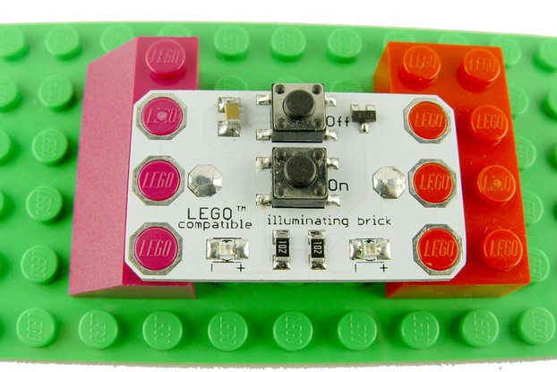 Illuminating LED brick 5x3, learn to solder KIT