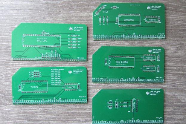 PCBs for Simple Modular 8-bit computer (5 PCBs)