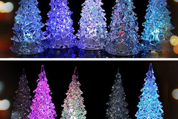 5pcs Colorful Changing Christmas Tree