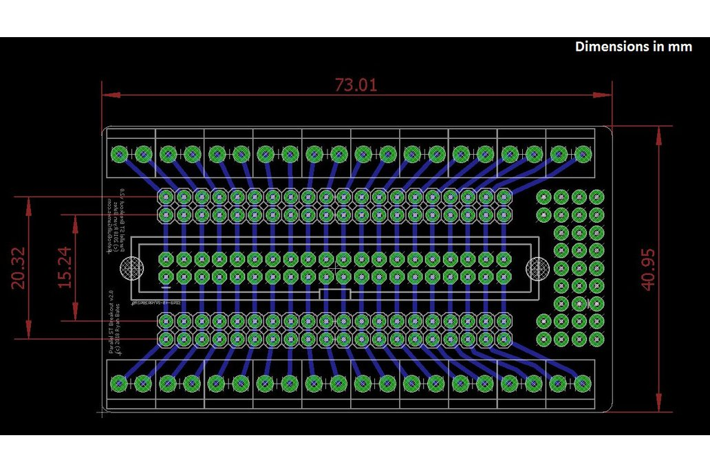 Screw Terminal Breakout PCB for Parallel Headers 2