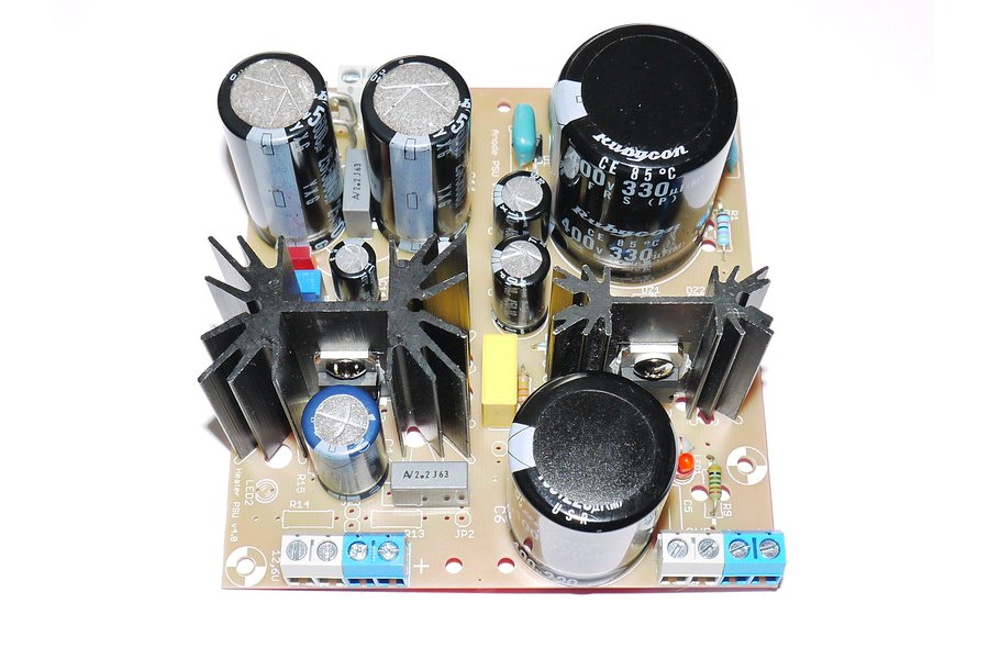 PSU for tube preamp adjustable double filter