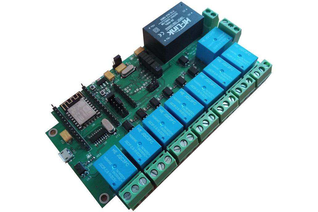 BA012:Wifi Eight Relay Board 1