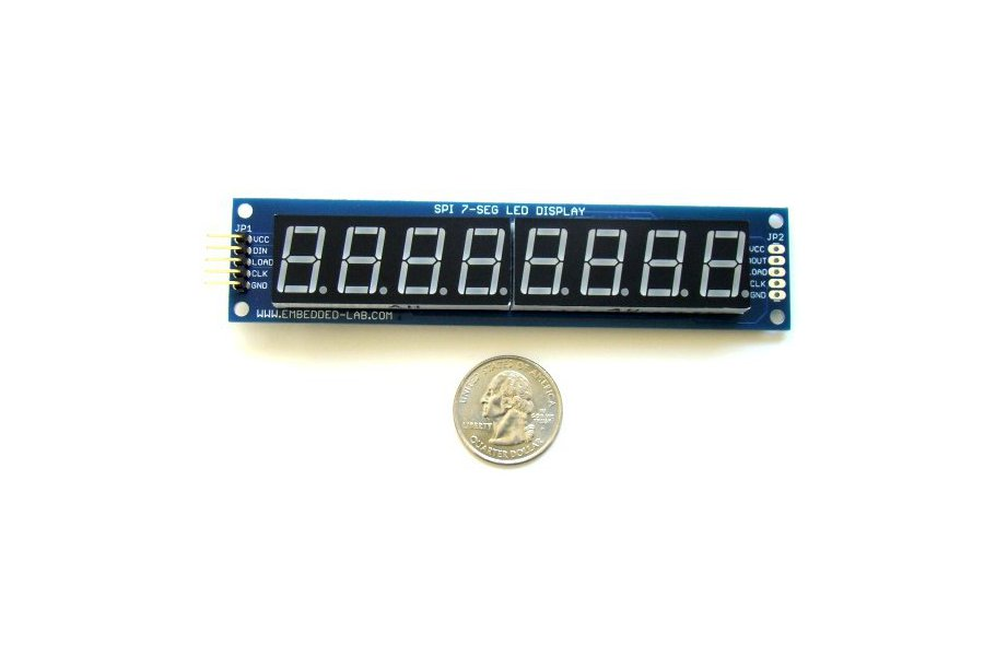 Serial 8-digit 7-segment LED display (Green)
