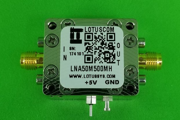 Amplifier LNA 0.9dB NF 50MHz to 500MHz
