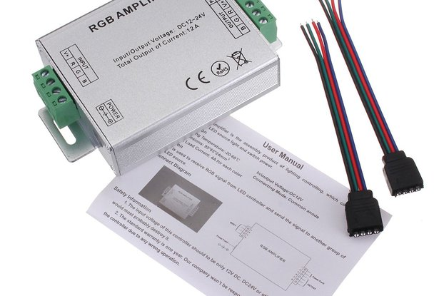 RGB SMD 5050 LED Strips Light Signal Amplifier 12V