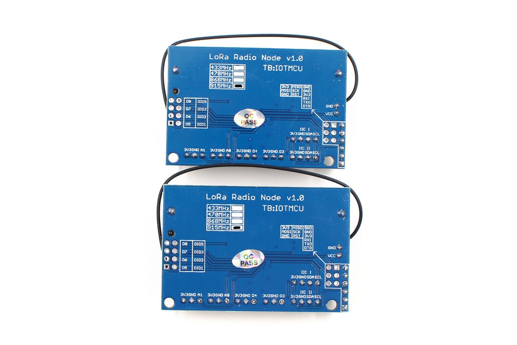 2PCS LoRa Radio Node v1.0 868/915MHz 4