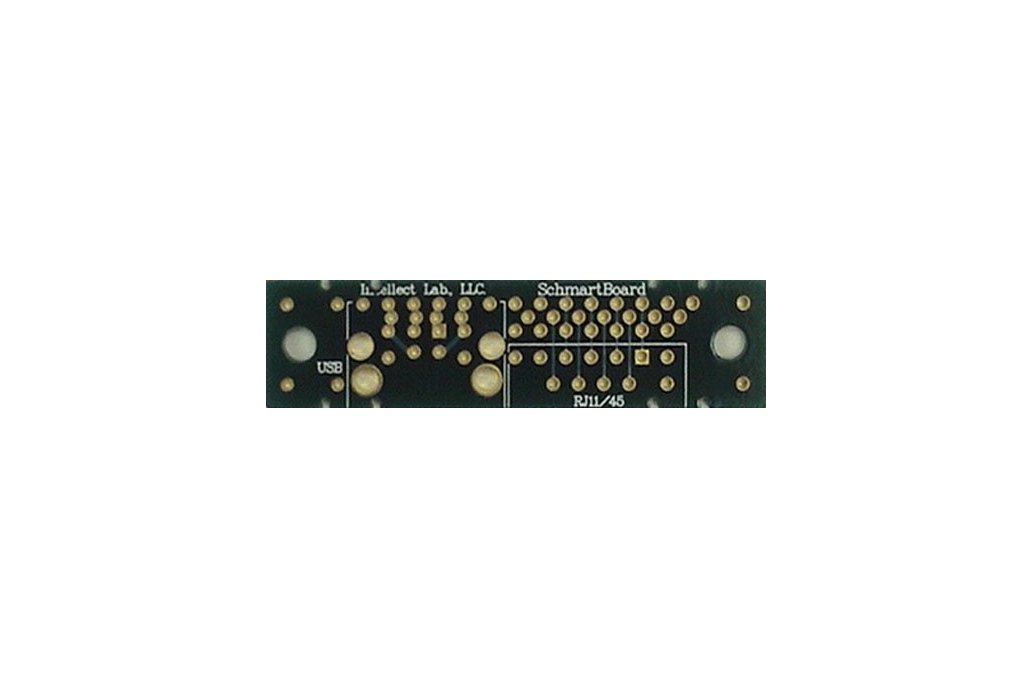 "Through Hole RJ11/45 & USB Connector 0.5x2"" Grid 1"