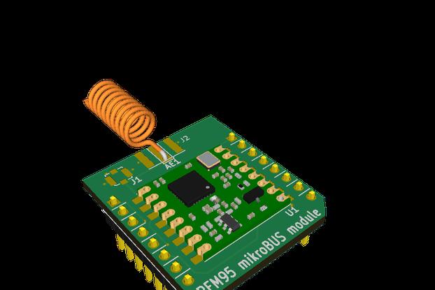 RFM95 LoRa mikroBUS Module