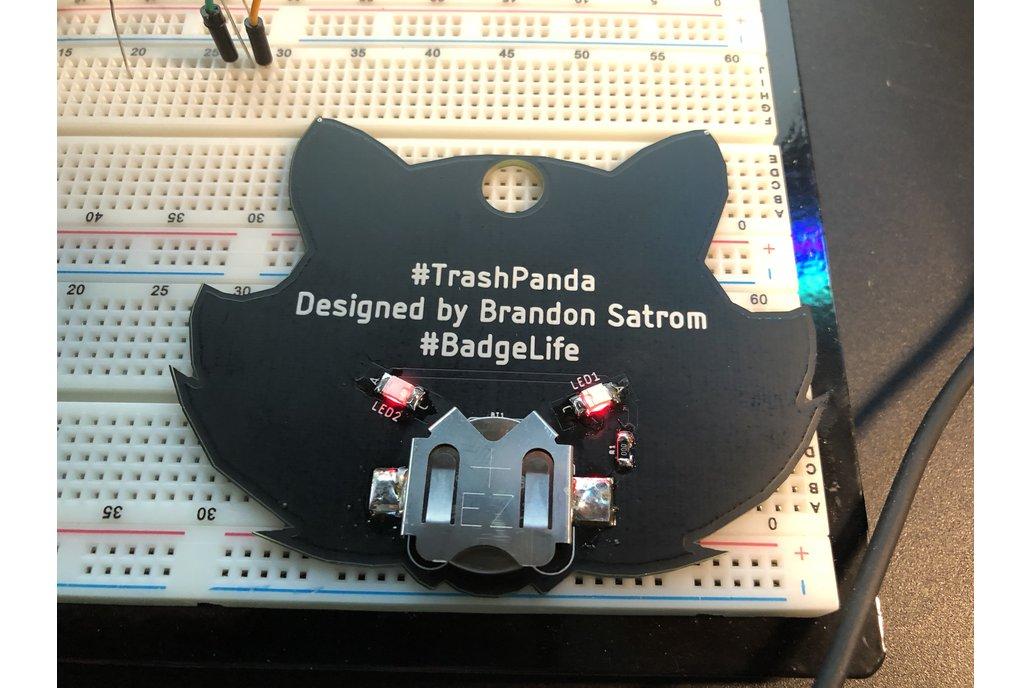 #Badgelife Trash Panda -  Standalone Badge 3
