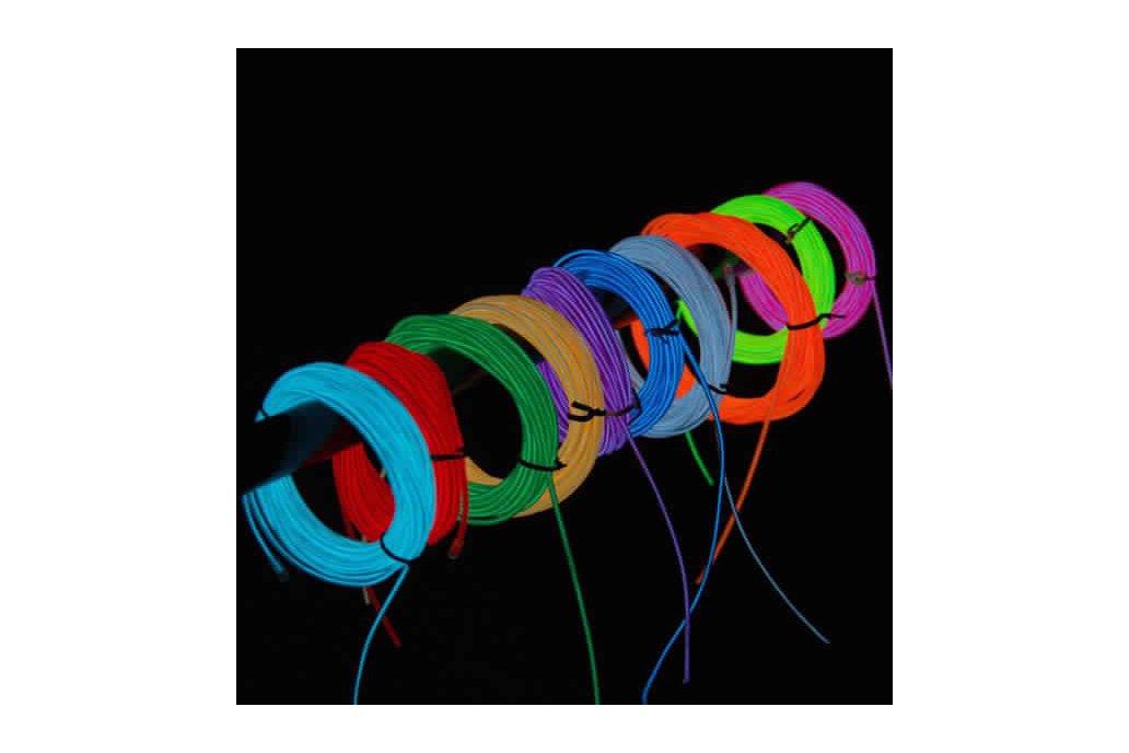 4M 10 colors 3V Flexible Neon EL Wire Light Dance  6