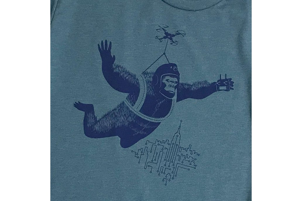 Drone Dropping Kong Graphic Tee 1