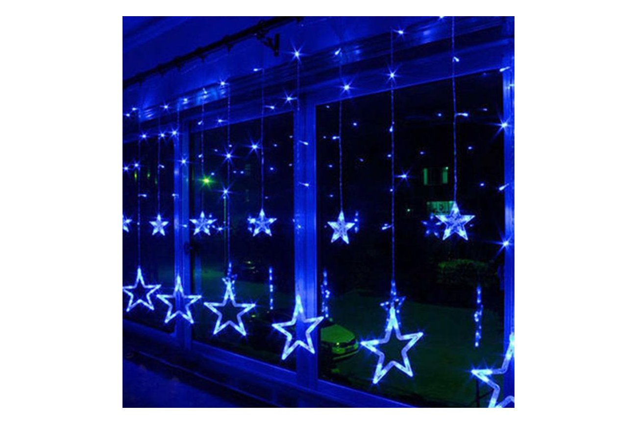 Christmas Lights Fairy Star Led Curtain String From