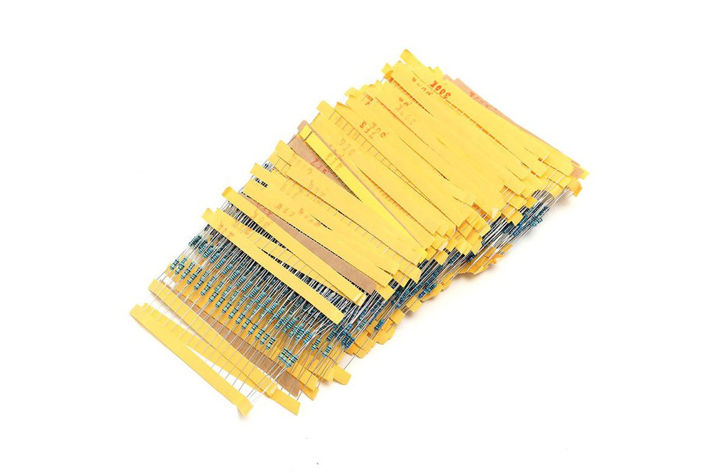 2600 x 1/4W Metal Film Resistor Assortment 1