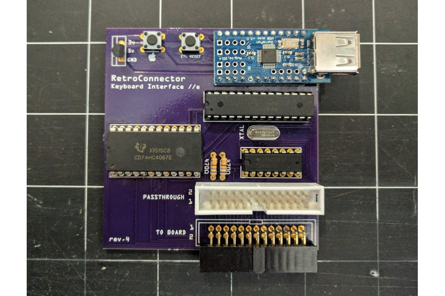 RetroConnector keyboard interface for Apple IIe