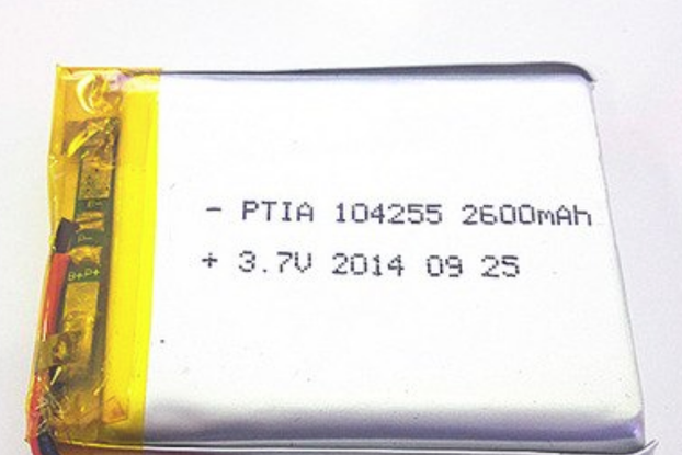 2600 mAh protected Li-Po battery