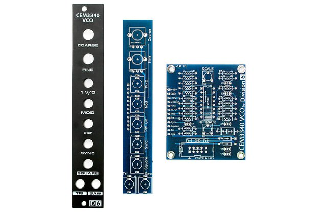 Division 6 CEM3340 VCO PCB Set
