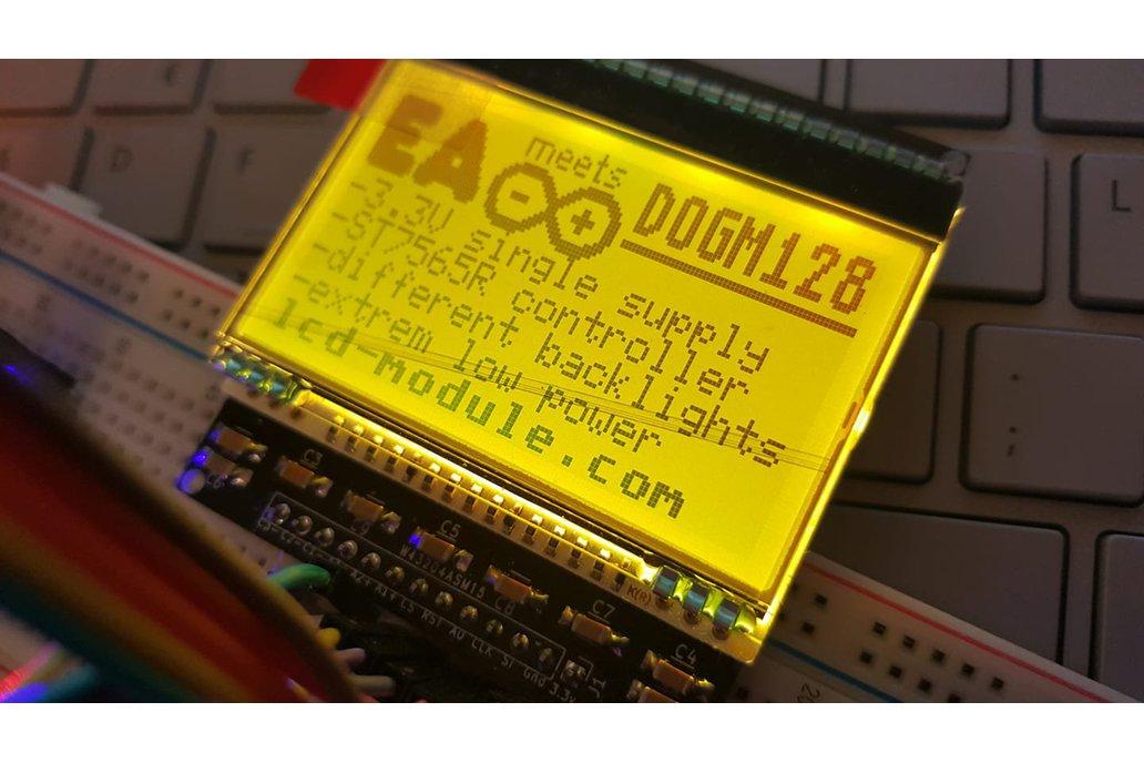 AE DOGM-128 Display holder, breadboard compatible 2