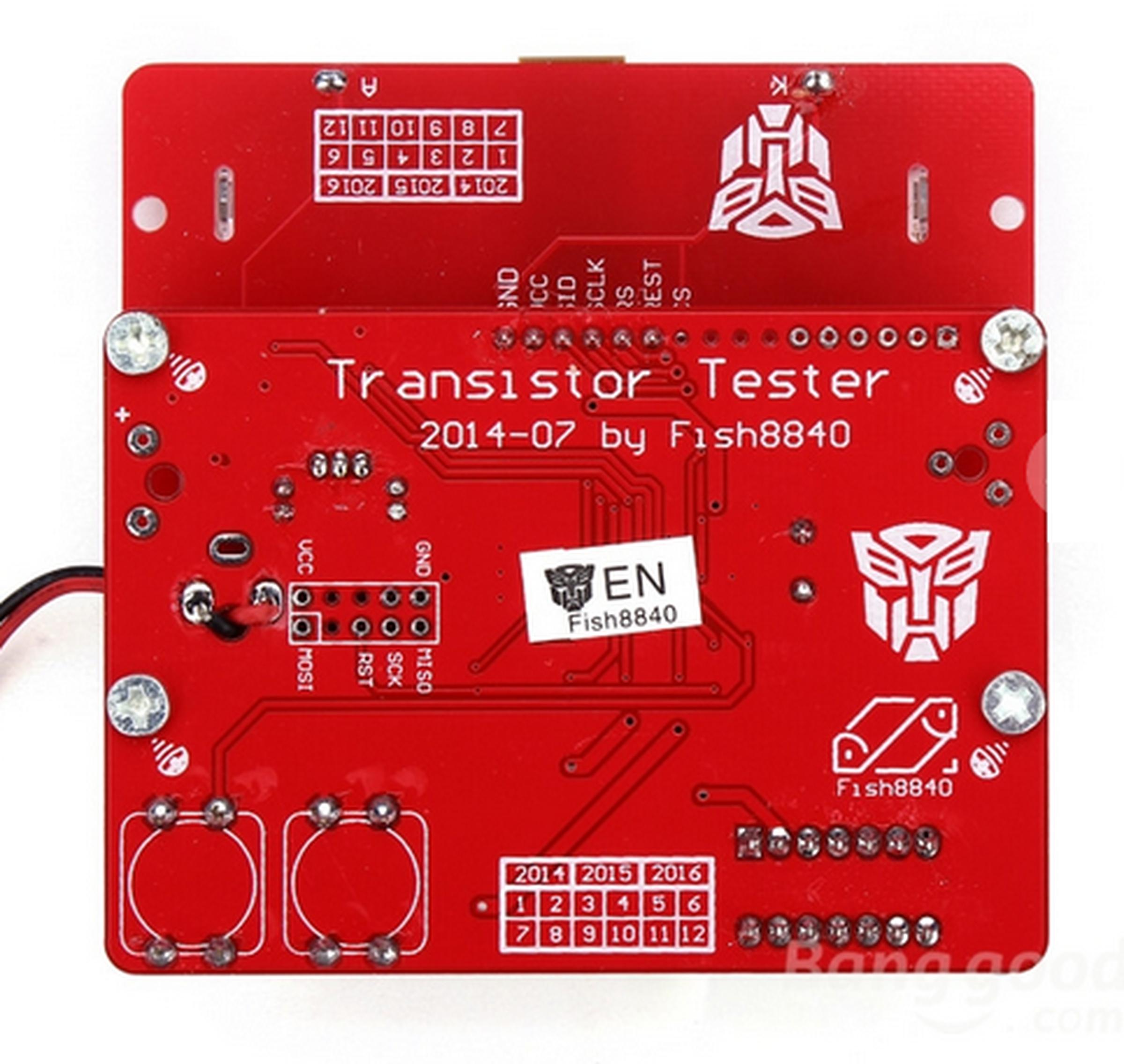 12864 Lcd Mega328 Transistor Tester Capacitance Esr Meter Diode Auto Lcr Digital Electric Bridge Resistance Inductance Triode Mos Pnp 5