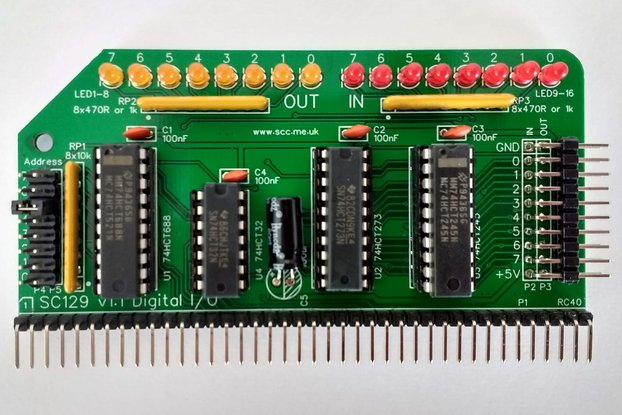 SC129 Digital I/O Module Kit for RC2014