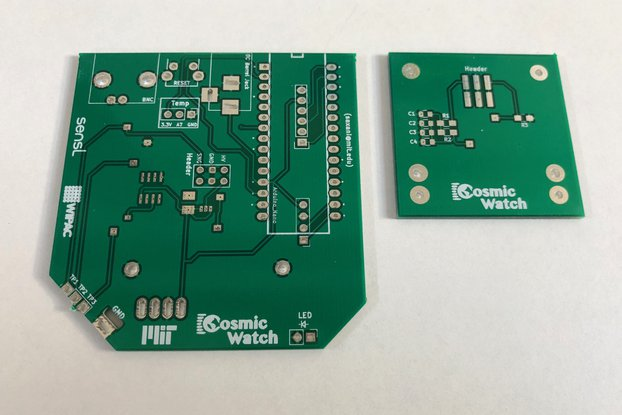 PCB for Cosmic Watch