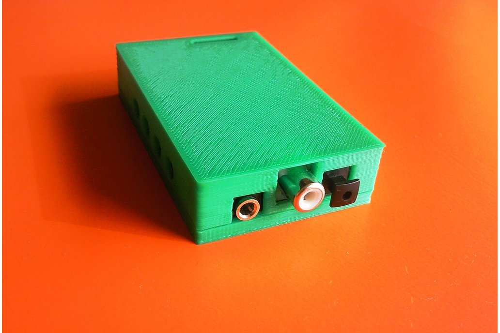 3D printed plastic housing for  USB audio card 1