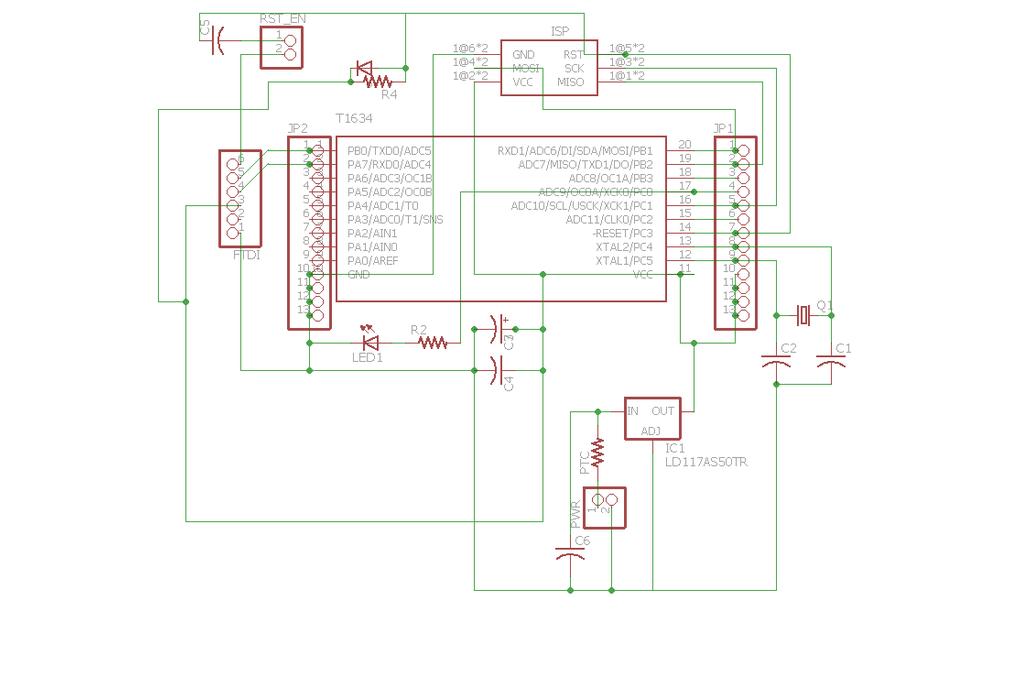 ATTiny1634 breakout w/serial header (bare board) 5