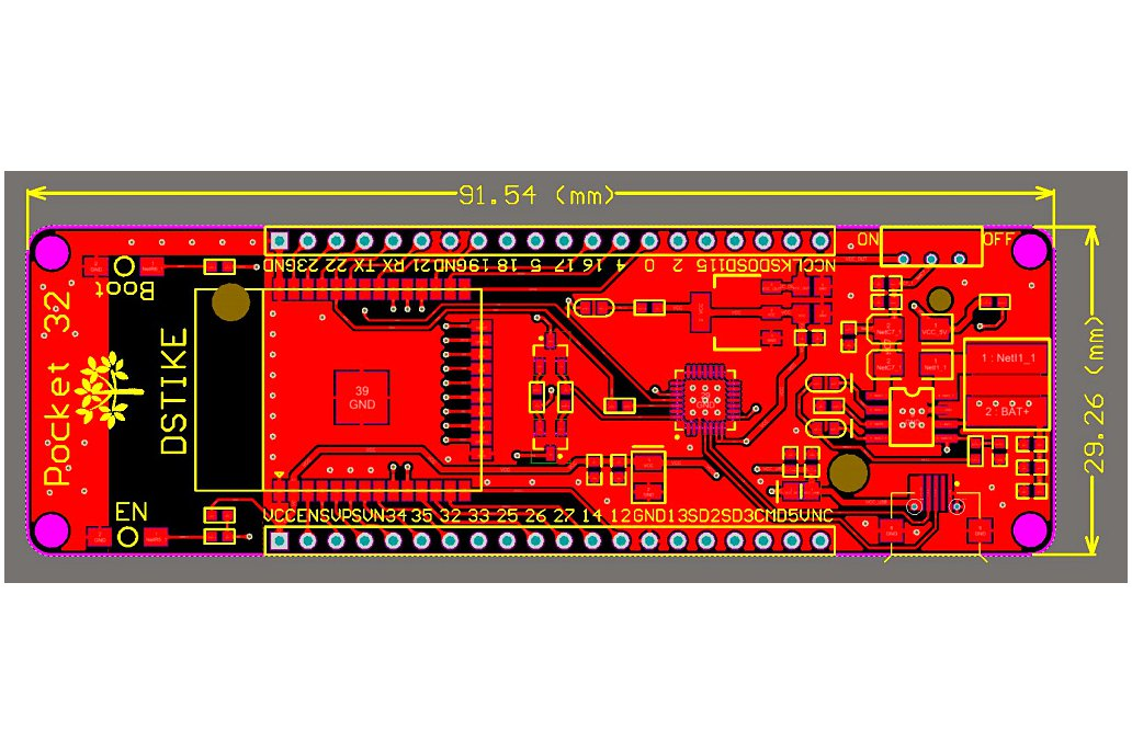 Pocket 32 --ESP32+18650  3