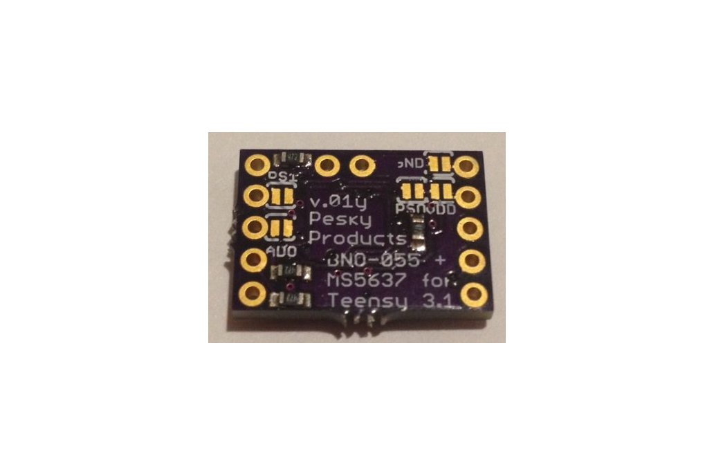 BNO-055 9-axis motion sensor with hardware fusion