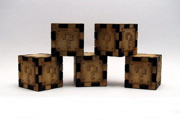 Mario Cubes - Lasercut