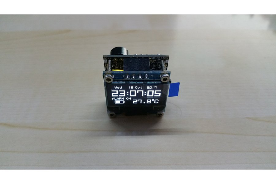 NEW Version OLEDiUNO Clock with Temp, Volt, Alarm