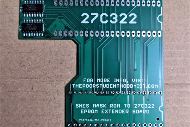 SNES to 27C322 Extended Adapter Board