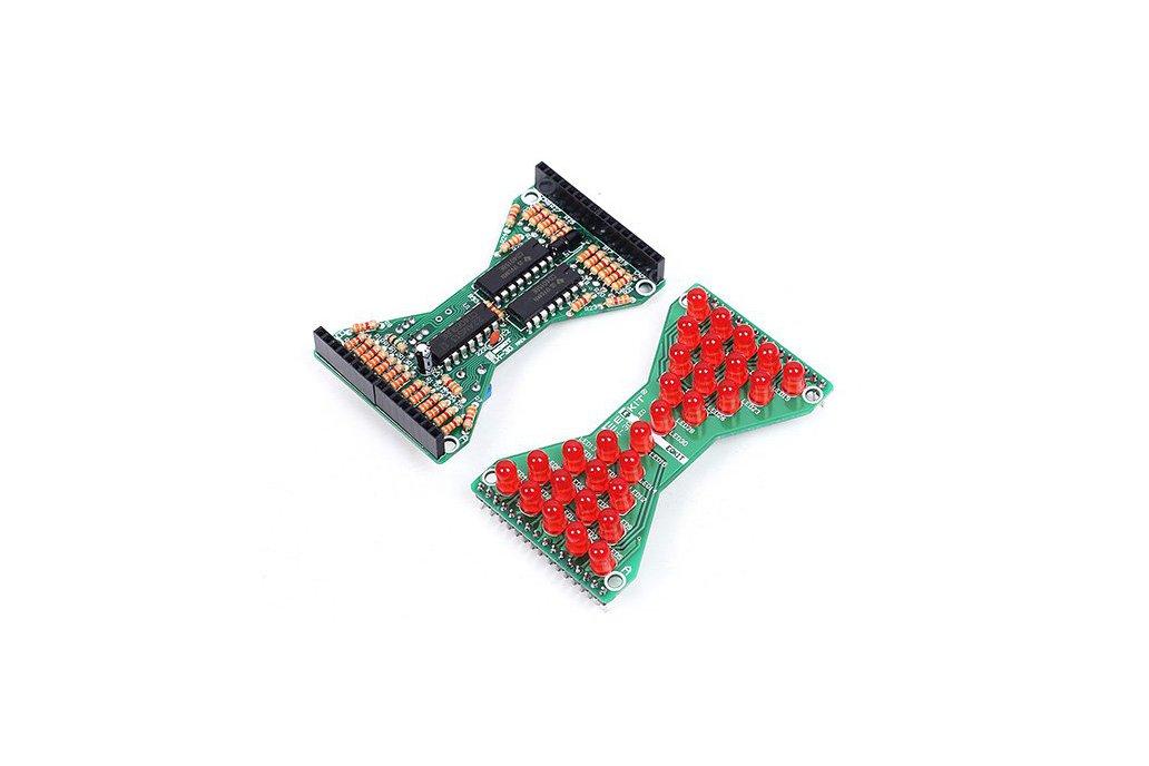 3.3V-5V Red LED Hourglass DIY Kit(13068) 3