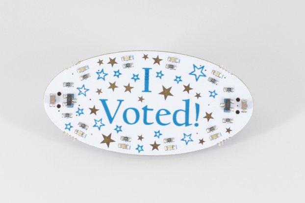 I Voted Blinky Badge, Pre-Assembled