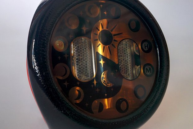 "Nixie Tube Watch ""MOONWATCHER"" Red RARE Tubes"
